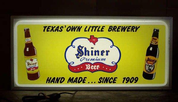 1: Shiner Bock Beer Sign- Lighted