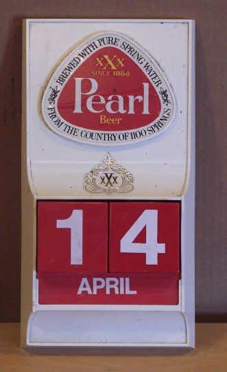 2: Changeable Pearl Beer Calendar