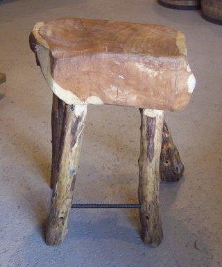 9: Cedar Slab Bar Stool