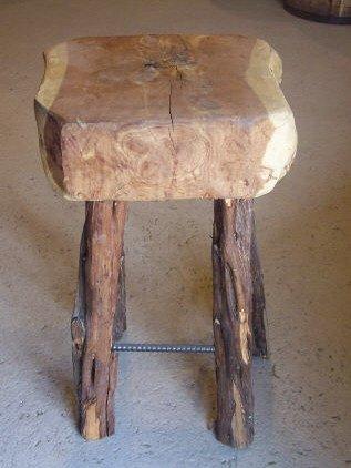 10: Cedar Slab Bar Stool