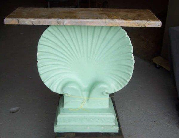16: Art Deco Plaster Seashell Hall Piece
