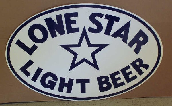 102: New Lone Star Light Beer Sign