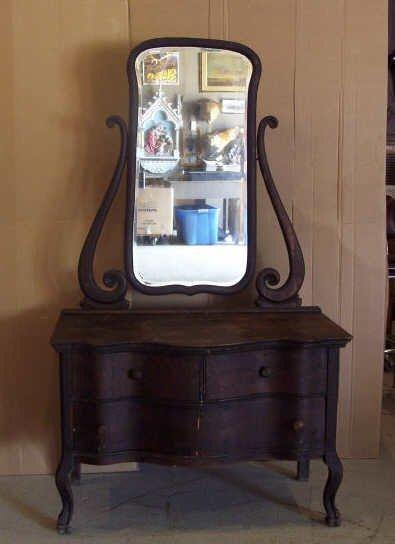 207: Oak Dresser with Mirror
