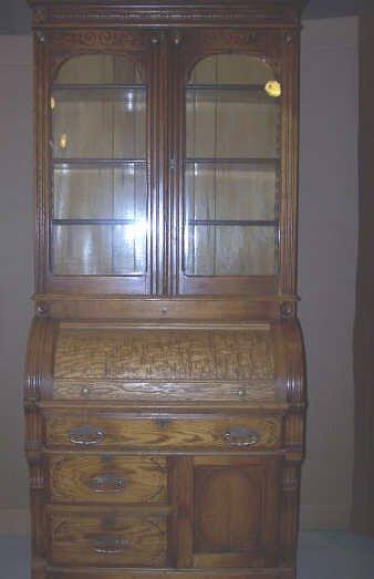 269: Chestnut Cylinder Roll Secretery