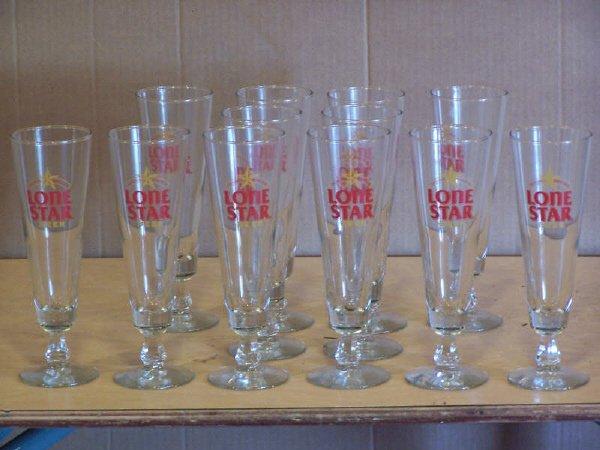 3A: 12 Lone Star Pilsner Glasses