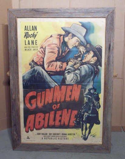 "7A: Rocky Land Movie Poster ""Gunmen of Abilene"""