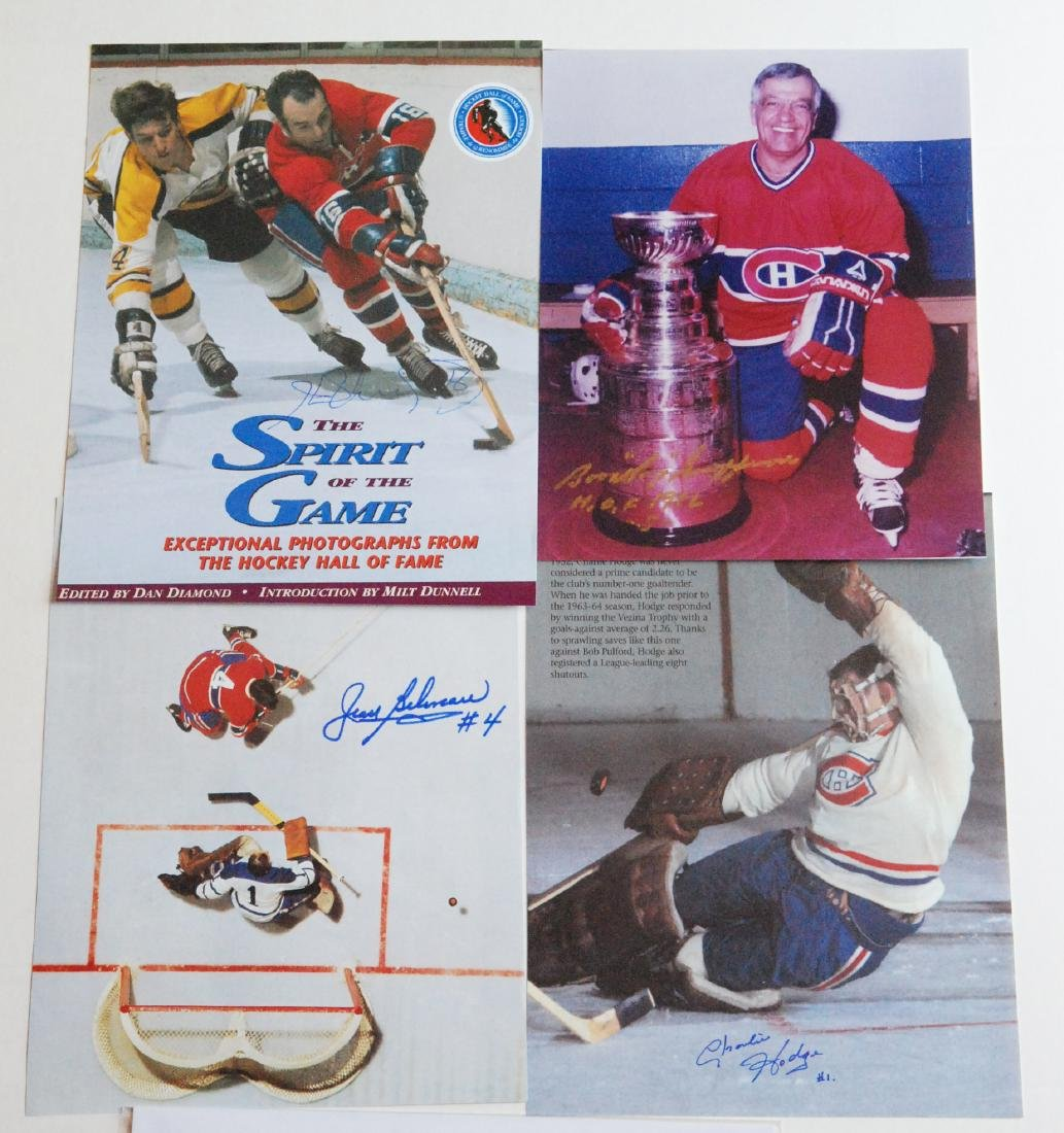 Montreal Canadian Greats Autographed Images