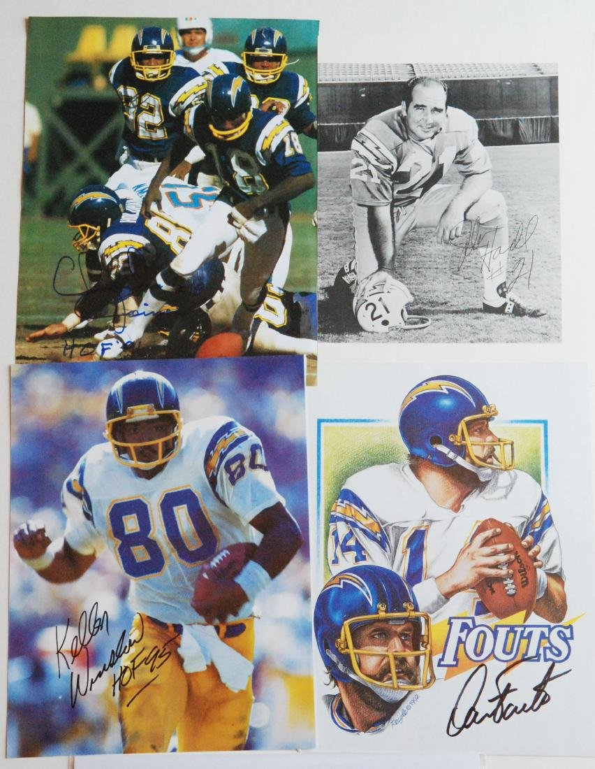 San Diego Charger Greats Autographed Images