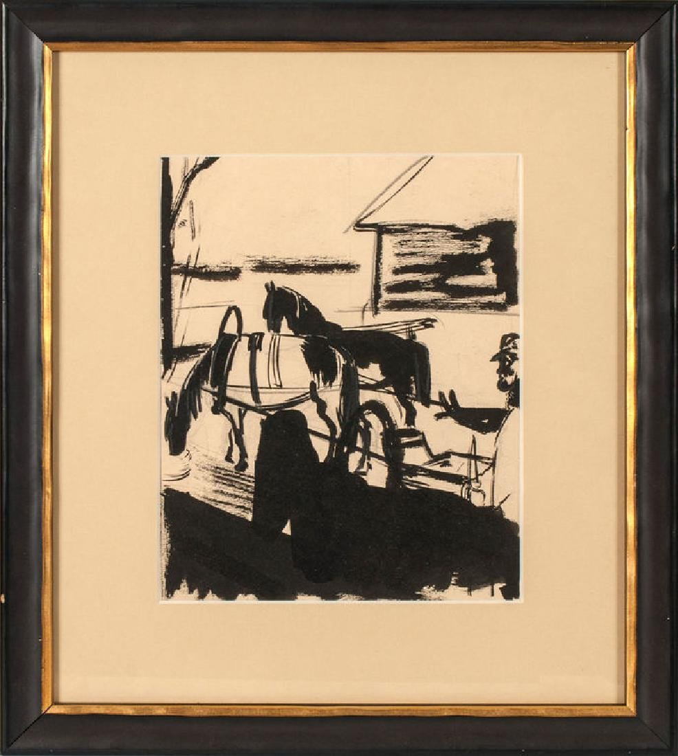 Horse cart, Romans Suta (1896-1944)