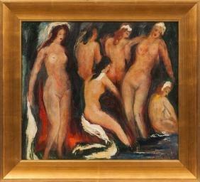 Bathers, Janis Ferdinands Tidemanis (1897-1964)