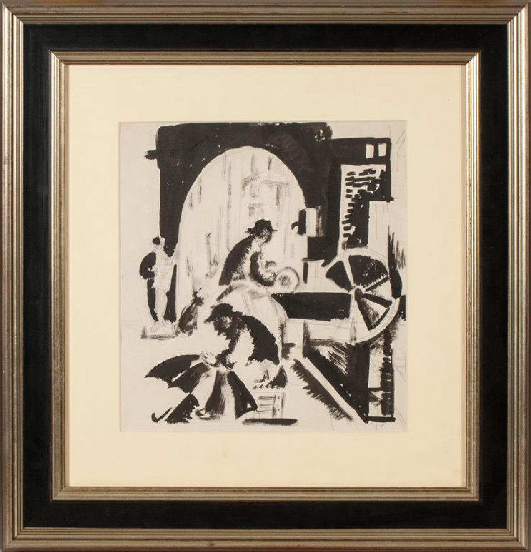 Figurative composition,  Aleksandra Belcova (1892-1981)