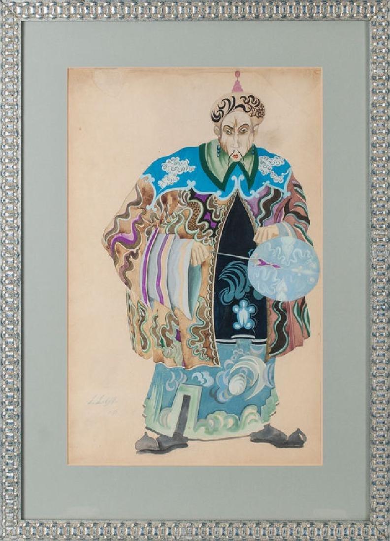 Costume sketch - Japanese,  Ludolfs Liberts (1895-1959)