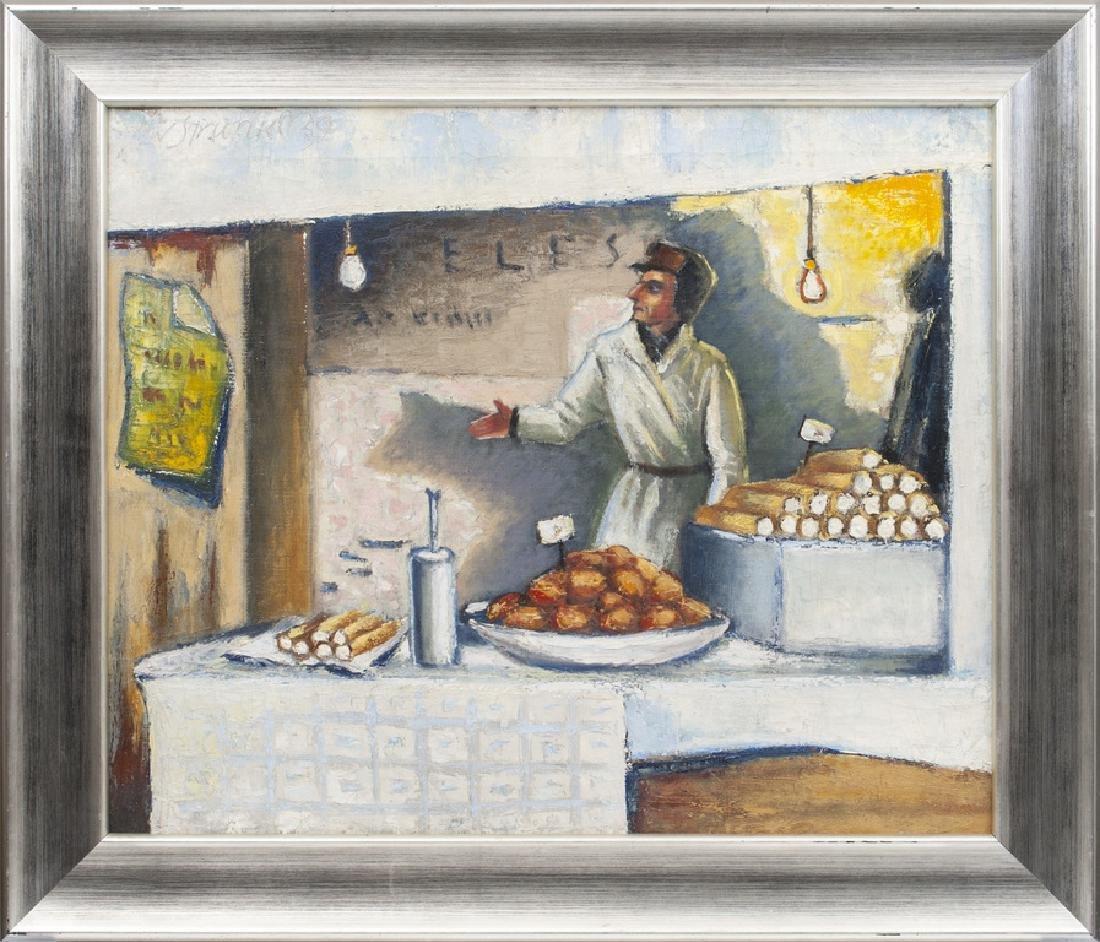 Seller in Riga's market,  Niklavs Strunke (1894-1966)