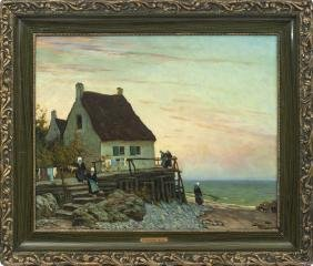 Normandy landscape, Viktor Zarubin Ivanovich 1866-1928