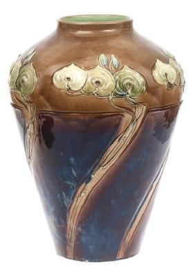 Majolica vase, Zelm&Boehm, Riga, Latvia