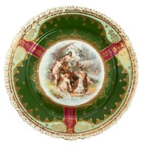 Porcelain plate, Kuznetsov manufactory, Latvia