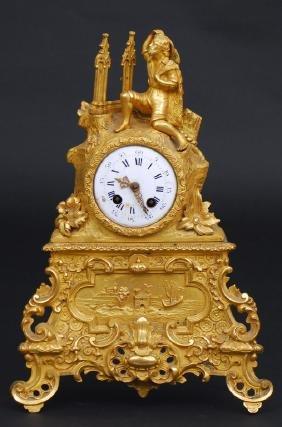 Bronze Mantel Clock, Russia, Pavel Bure