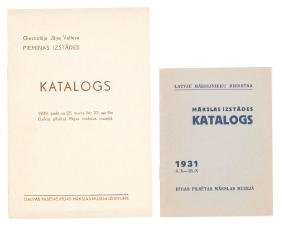 Two exhibition catalogs, 1930's, Latvia