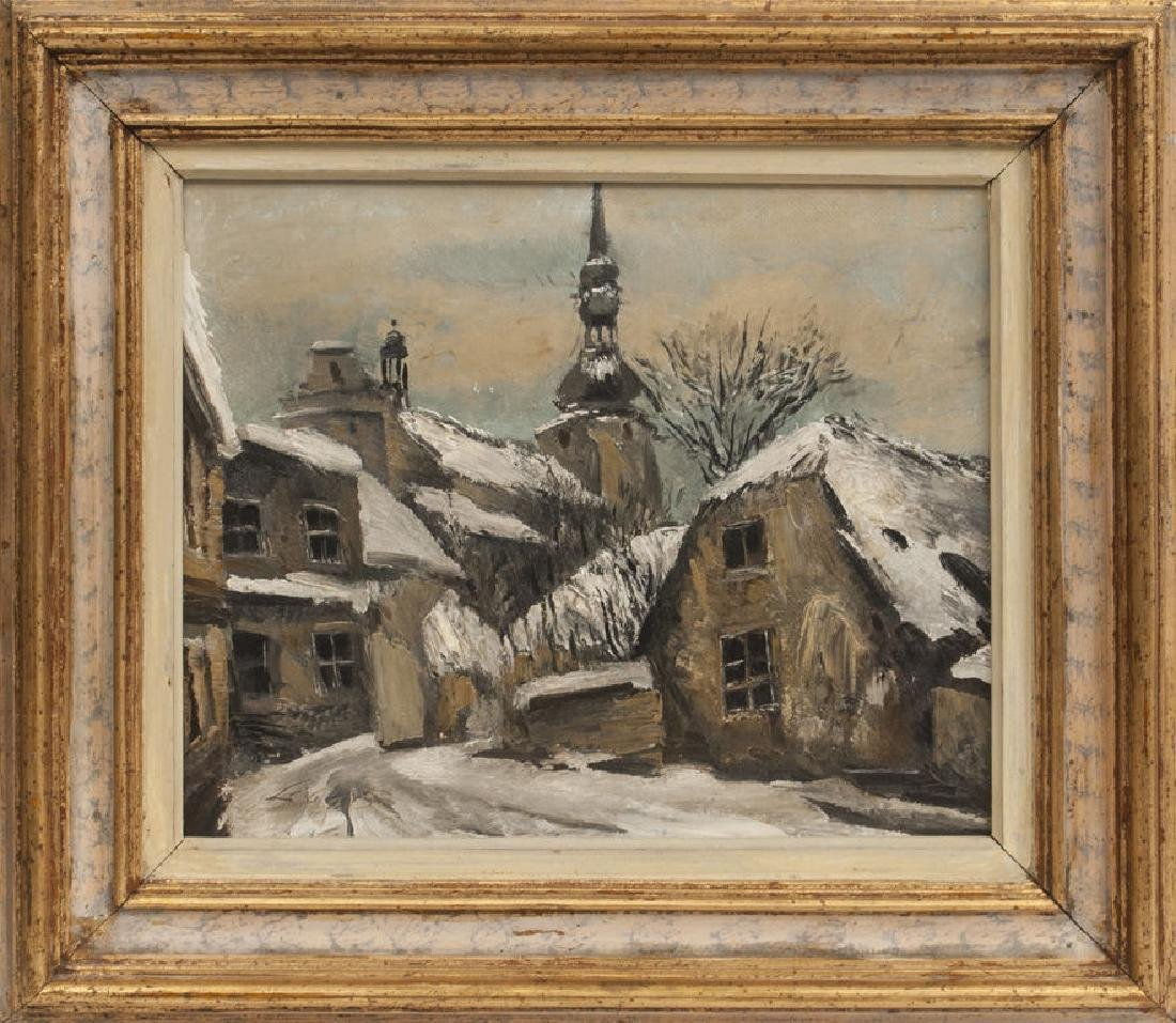 Sia baltantik collectibles paintings antiques and jewelry city view in winter ludolfs liberts 1895 1959 jeuxipadfo Images