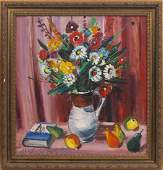 Still life with flowers, Herberts Ernests Silins
