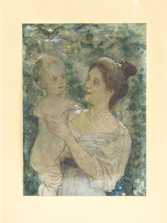 Mother with child, Janis Rozentals