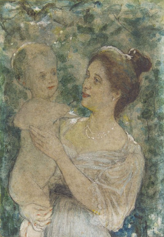 Mother with child, Janis Rozentals - 2