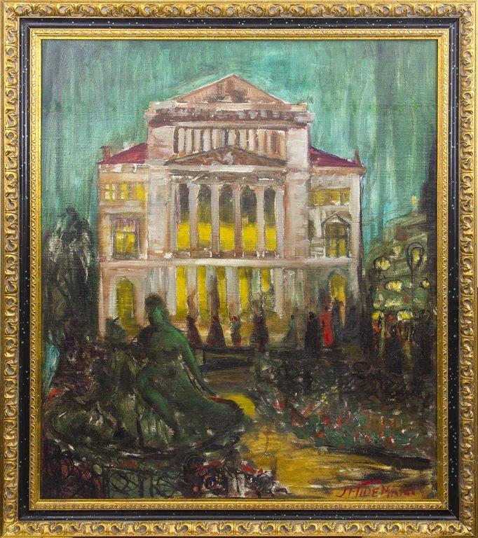 At the opera house, Janis Ferdinands Tidemanis