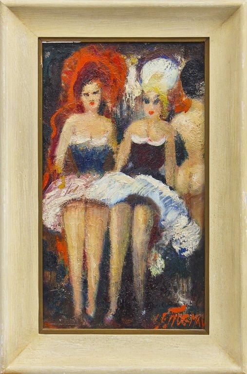Cancan dancers, Janis Ferdinands Tidemanis