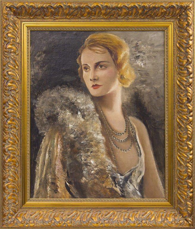 Portrait of the opera singer Amanda Liberte-Rebane