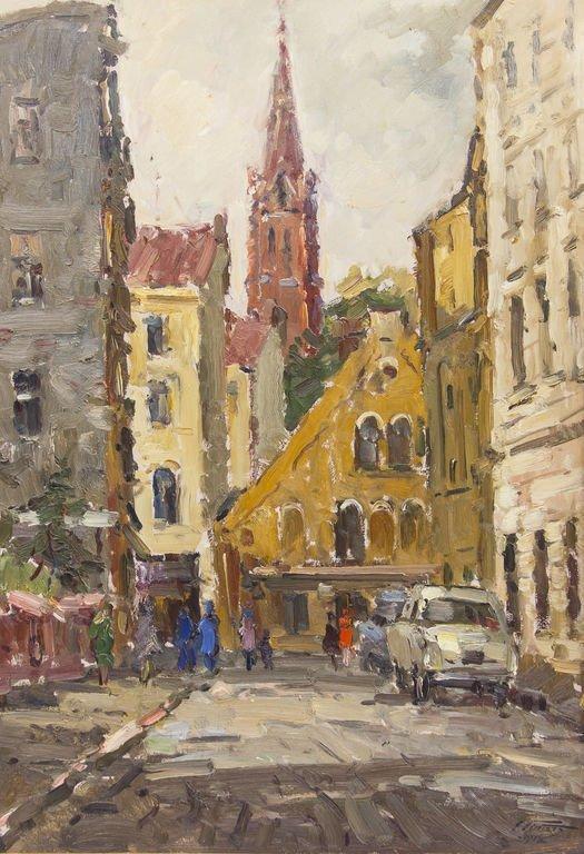 City view. Old Riga, Edgars Vinters