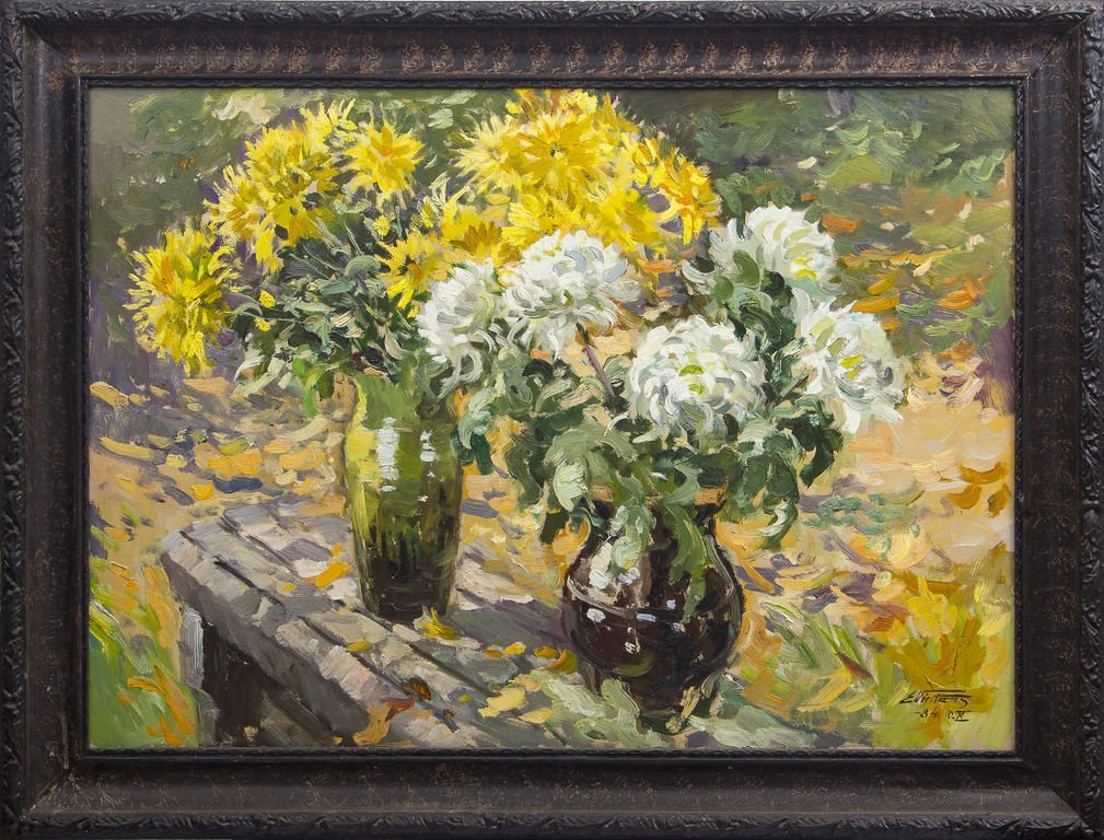 Still life with autumn flowers, Edgars Vinters