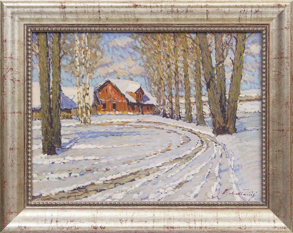 Winter landscape, Karlis Melbarzdis