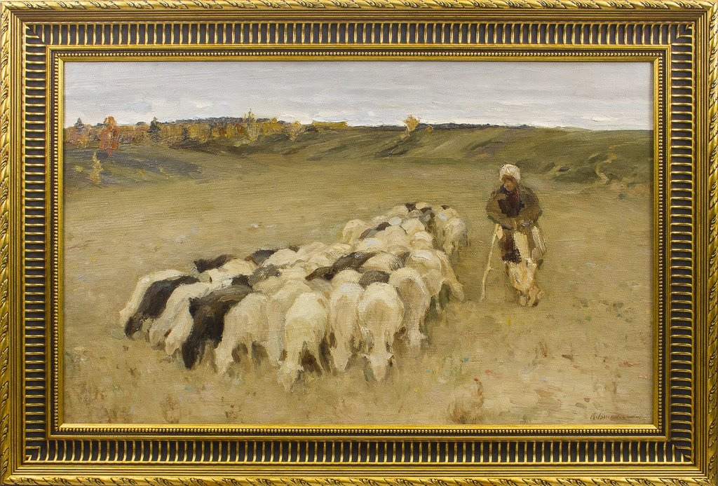 Sheep shepherdess, Konstantins Visotskis