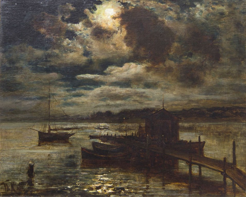 Dock in the moonligth, Julijs Klevers