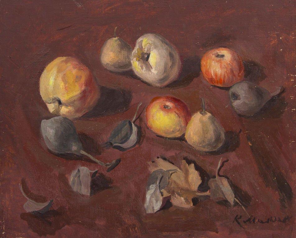 Still life with fruits, Karlis Miesnieks