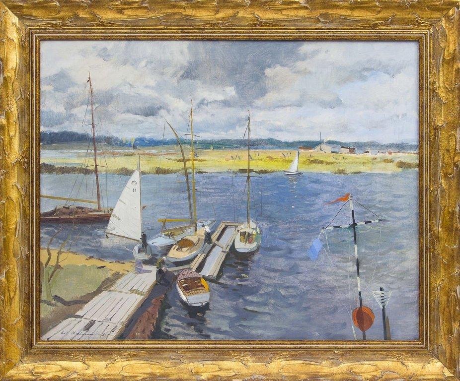 Boats in Lielupe, Eduards Kalnins
