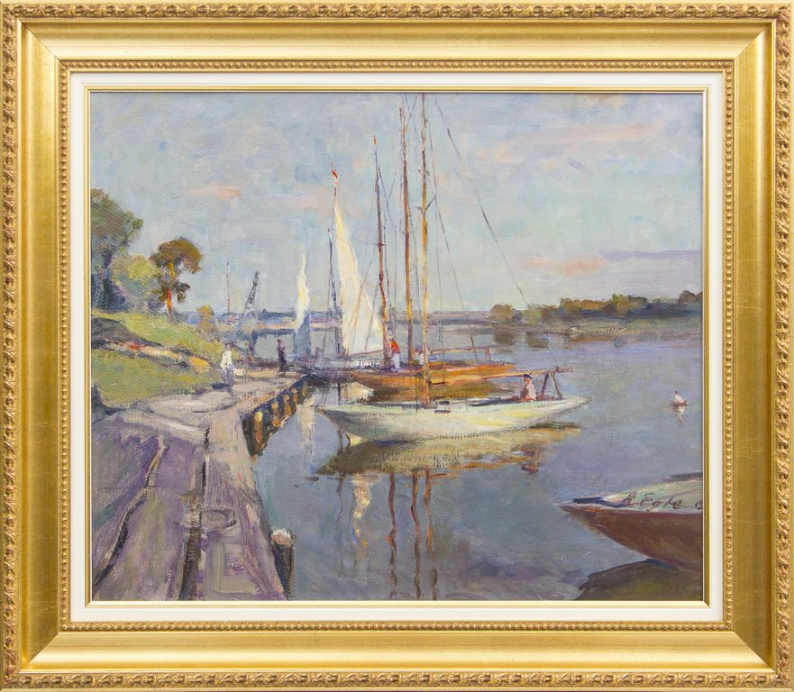 Yachts in Lielupe, Arvids Egle