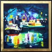 Ships at night, Herberts Ernests Silins