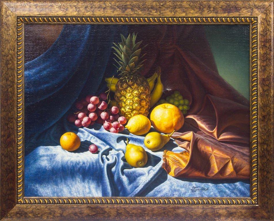 Still life with pineapple, Eduards Pustuvoitovs