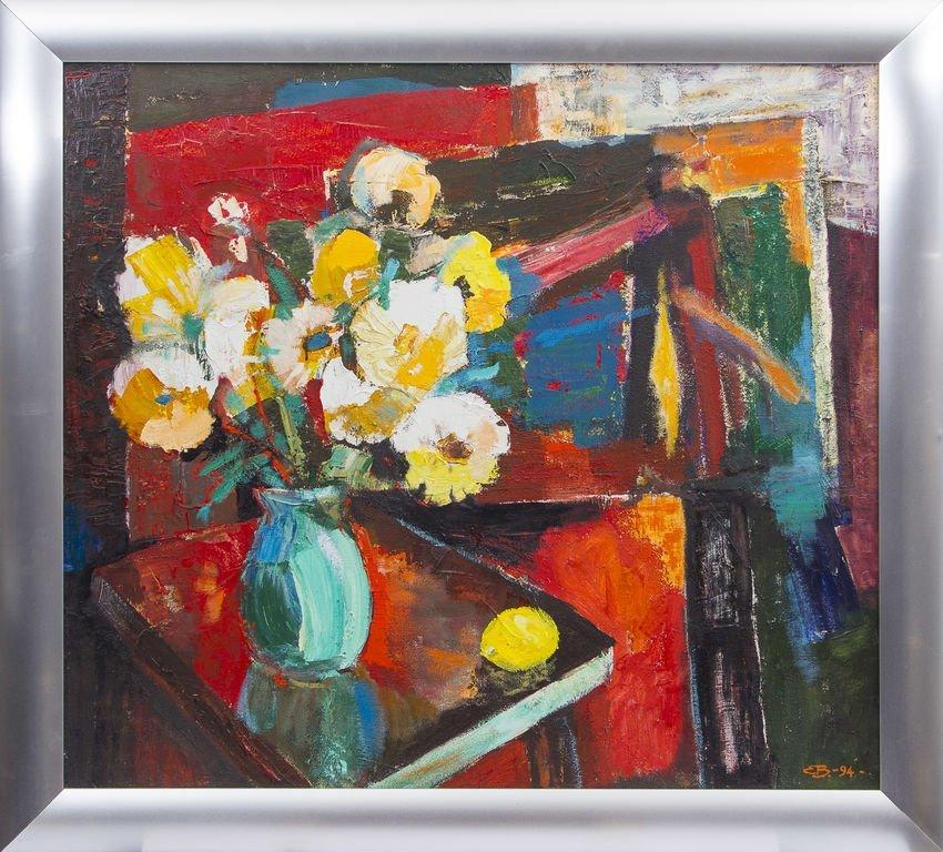 Still life with flowers and lemon, Emils Braunbergs