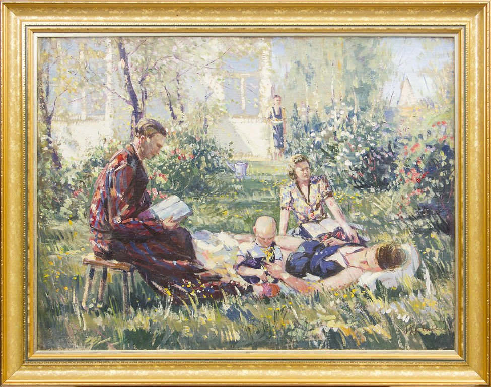 In the home yard of Ludolfs Liberts, Vitalijs Kalvans