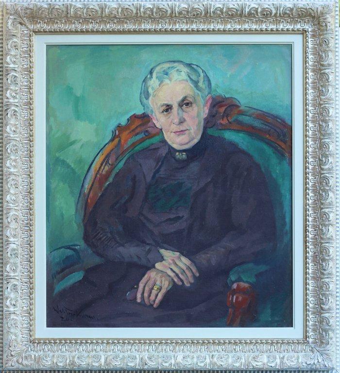 Portrait of Madam Minna Roeber, Janis Valters