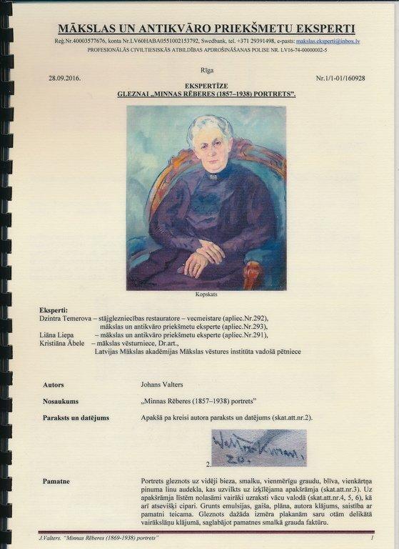Portrait of Madam Minna Roeber, Janis Valters - 3