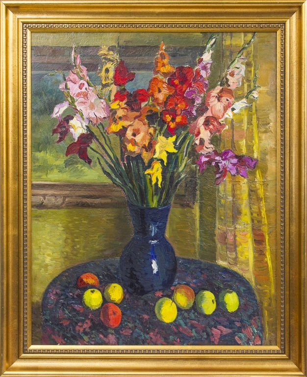 Still life with gladiolus, Ansis Artums