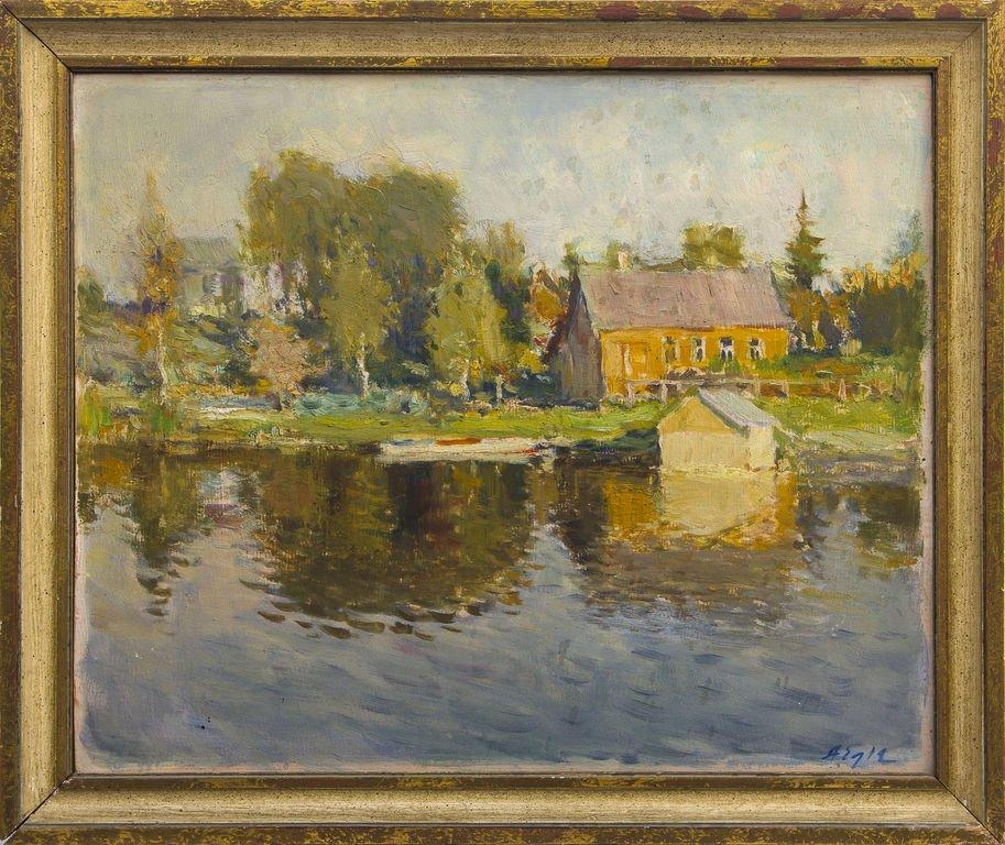 Landscape with boat, Arvids Egle