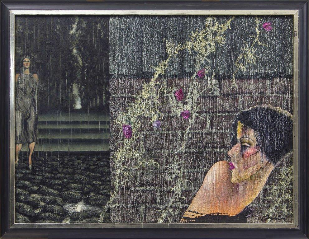 Women in the rain, Janis Andris Osis