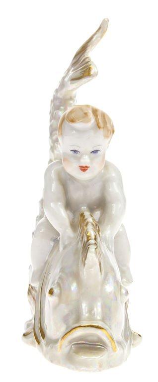 "Porcelain figure ""The boy on the fish"" Latvia - 4"
