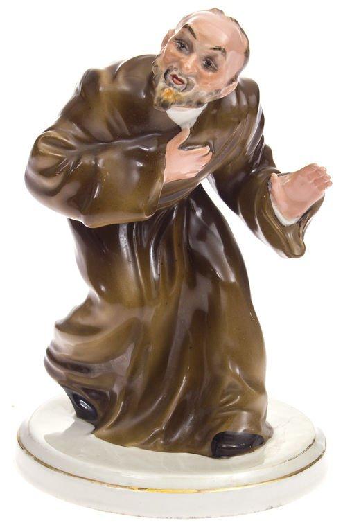 "Porcelain figurine ""Deacon"" 1955 Latvia"