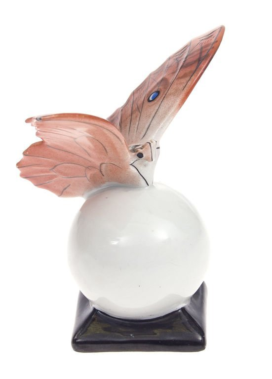 "Porcelain figure ""Butterfly on ball"" 1941-1947 Latvia - 2"