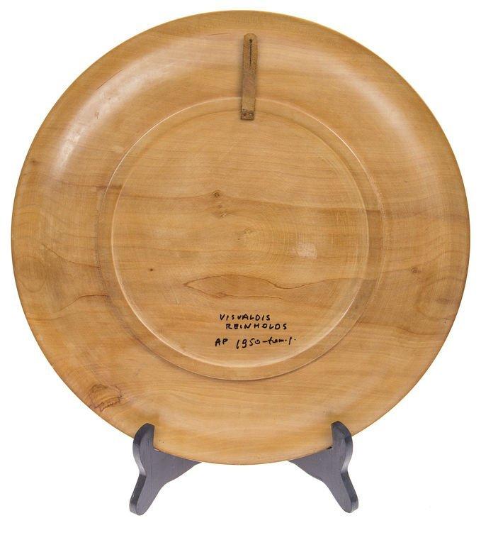 """Wooden plate """"Thunder"""", Visvaldis Reinholds - 2"""
